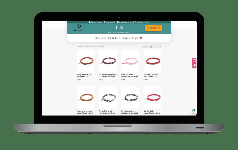 Website laten maken : webshop Bali Beads