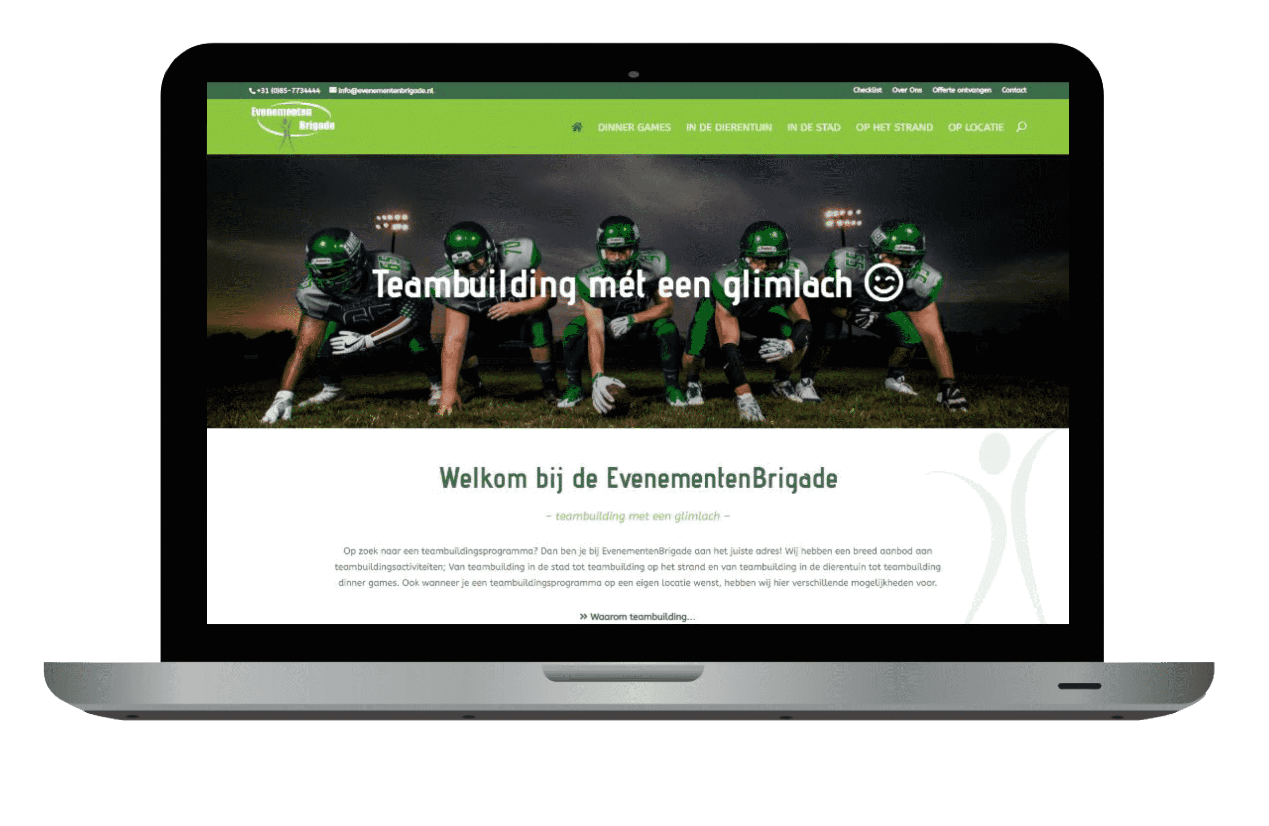 Website laten maken: website EvenementenBrigade