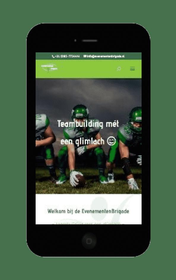 Printscreen website EvenementenBrigade smartphone